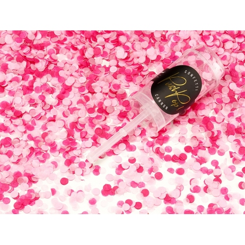Push pop konfetti, mix różowy