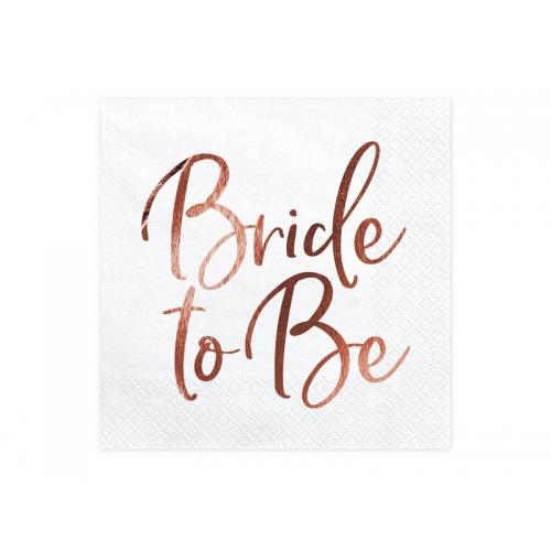 Serwetki papierowe Bride to Be (20 sztuk)