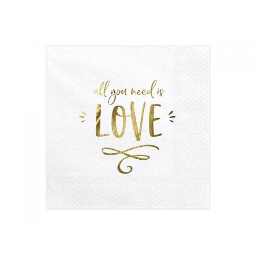 Serwetki papierowe All you need is love (20 sztuk)
