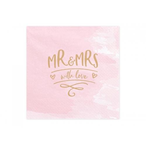 Serwetki papierowe Mr & Mrs (20 sztuk)
