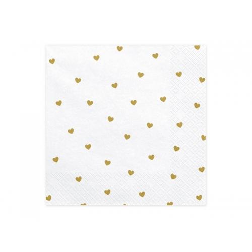 Serwetki papierowe Serca (20 sztuk)