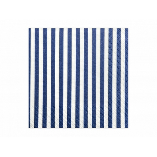 Serwetki papierowe Paski, niebieskie