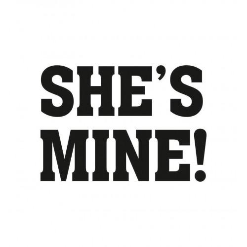 "Naklejki na buty ""She's Mine!"" (2 sztuki)"