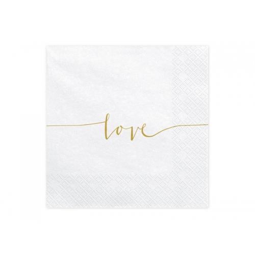 Serwetki papierowe Love (20 sztuk)