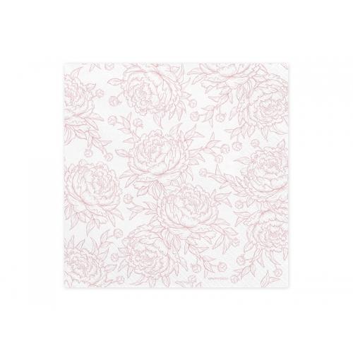 Serwetki papierowe Piwonie, jasnoróżowe (20 szt.)