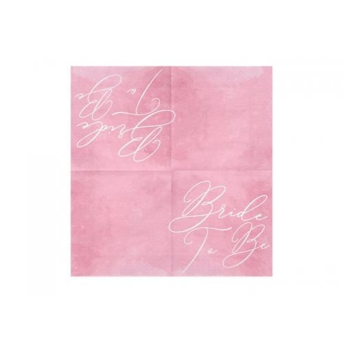 Serwetki papierowe Bride to Be, różowe