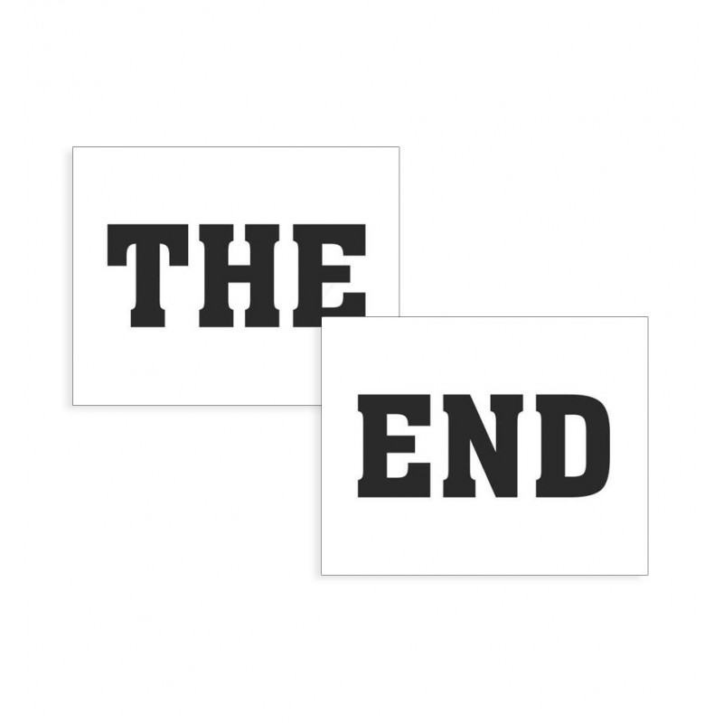 "Naklejki na buty ""The End"" (2 sztuki)"
