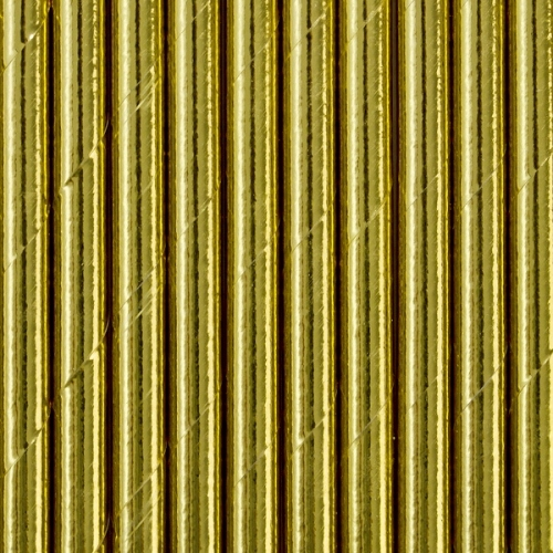Słomki papierowe, złote (10 szt.)