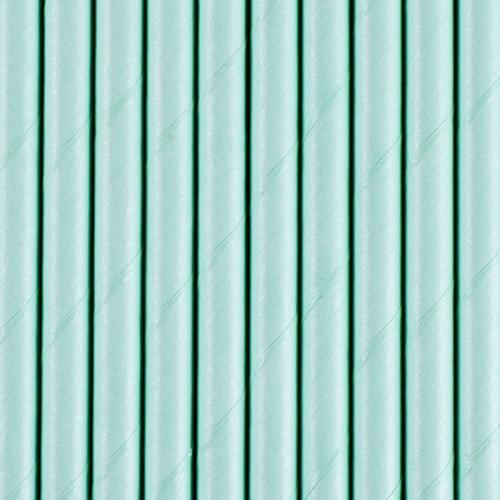 Słomki papierowe, błękitne (10 szt.)