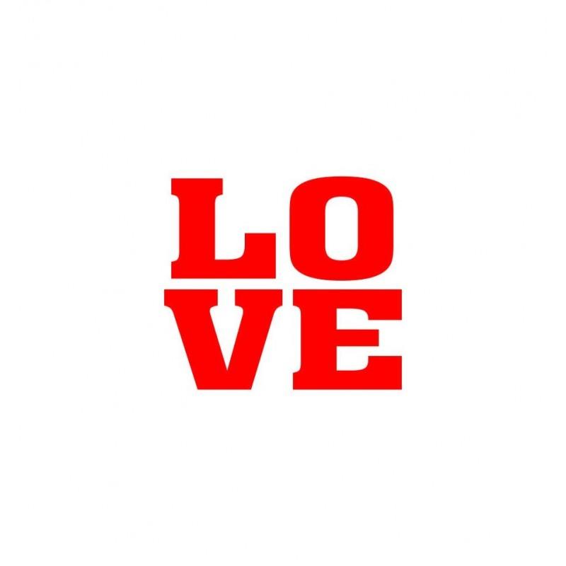"""Naklejki na buty """"Love"""" (2 sztuki)"""