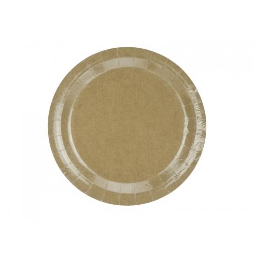 Talerzyki papierowe 23 cm, EKO (6 sztuk)