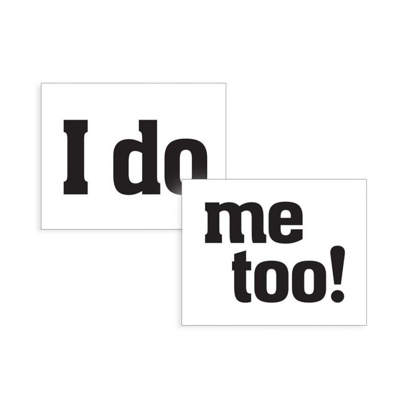 """Naklejki na buty """"I do"""" i """"Mee to"""" (2 sztuki)"""
