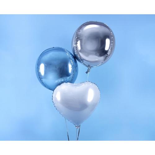 Błękitny balon foliowy - kula