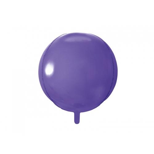 Fioletowy balon foliowy - kula