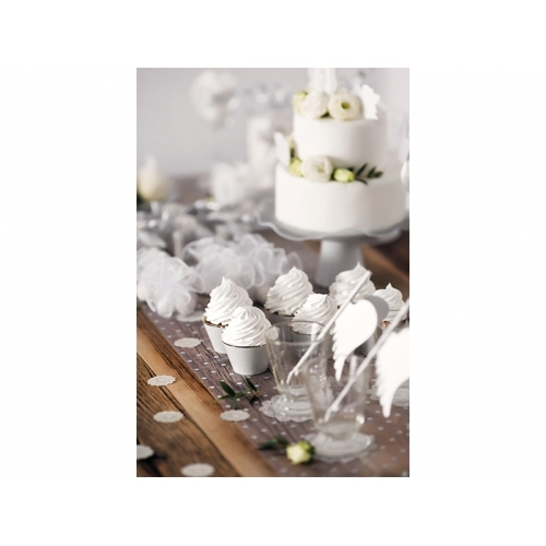 Papilotki na muffinki, mix kolorów ze srebrnym paskiem (6 sztuk)