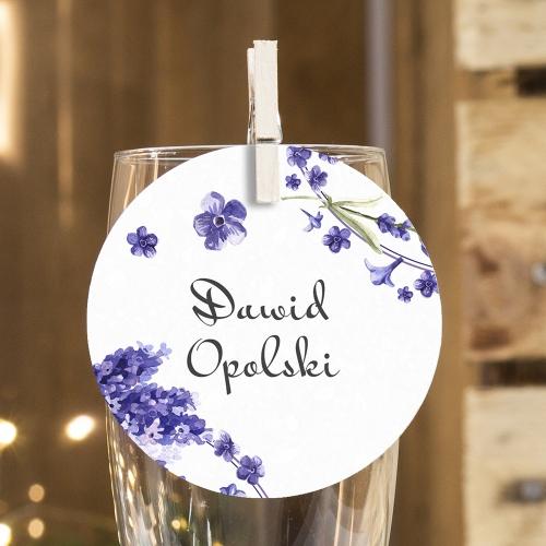 Okrągła winietka weselna - Floral III