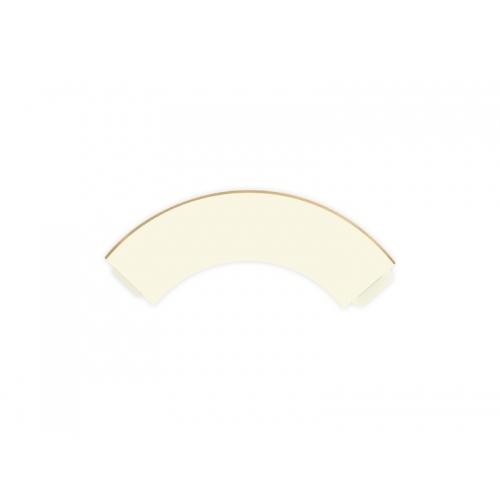 Papilotki na muffinki, jasnokremowe ze złotym paskiem (6 sztuk)