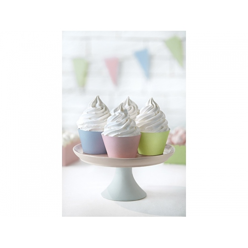 Papilotki na muffinki, pastelowe (6 sztuk)