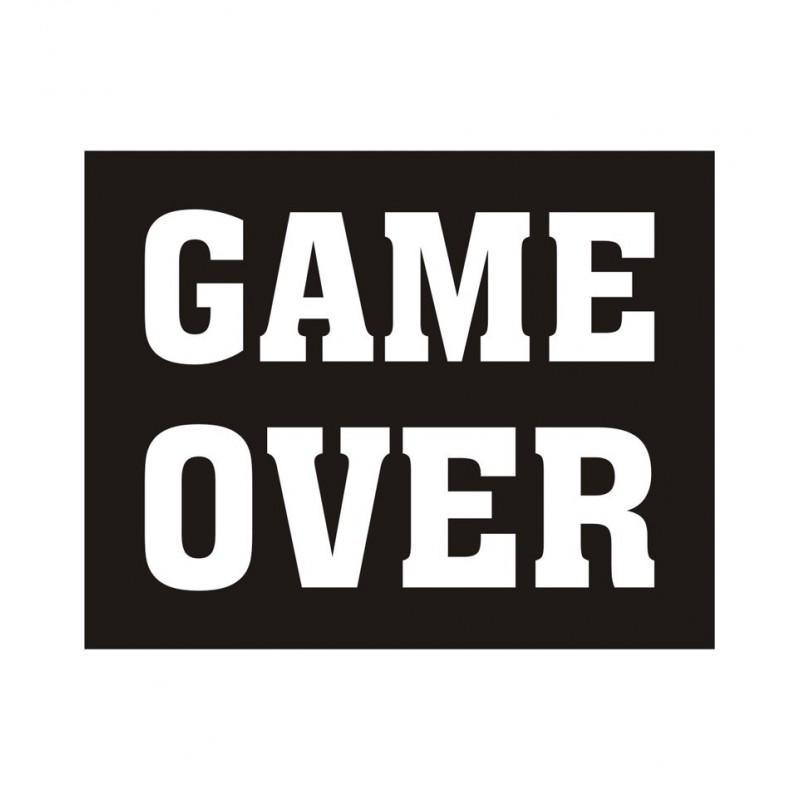 "Naklejki na buty ""Game Over"" (2 sztuki)"