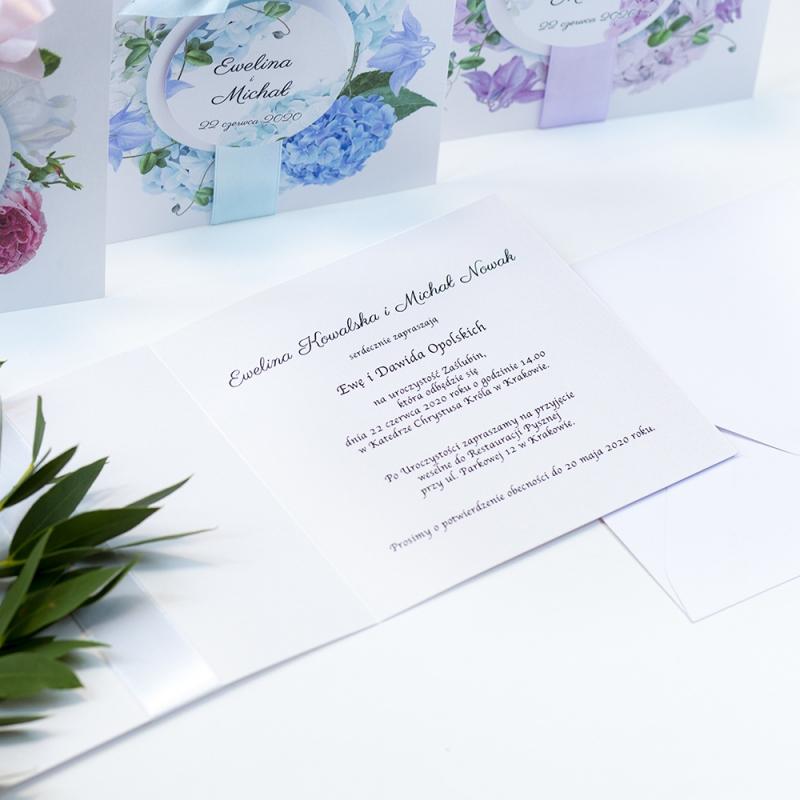 Zaproszenie ślubne - Satynowe I
