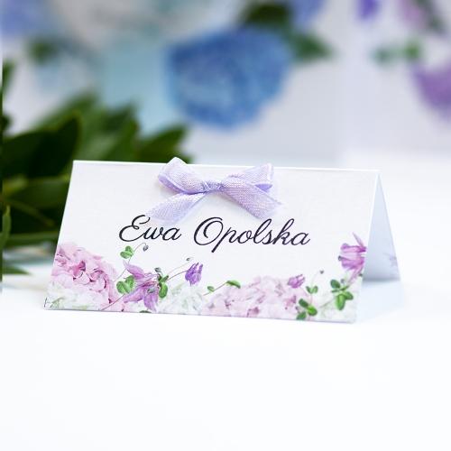 Winietka weselna - Fioletowe Hortensje