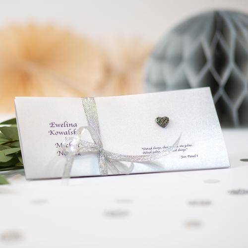 Zaproszenie ślubne - Silver Line - składane