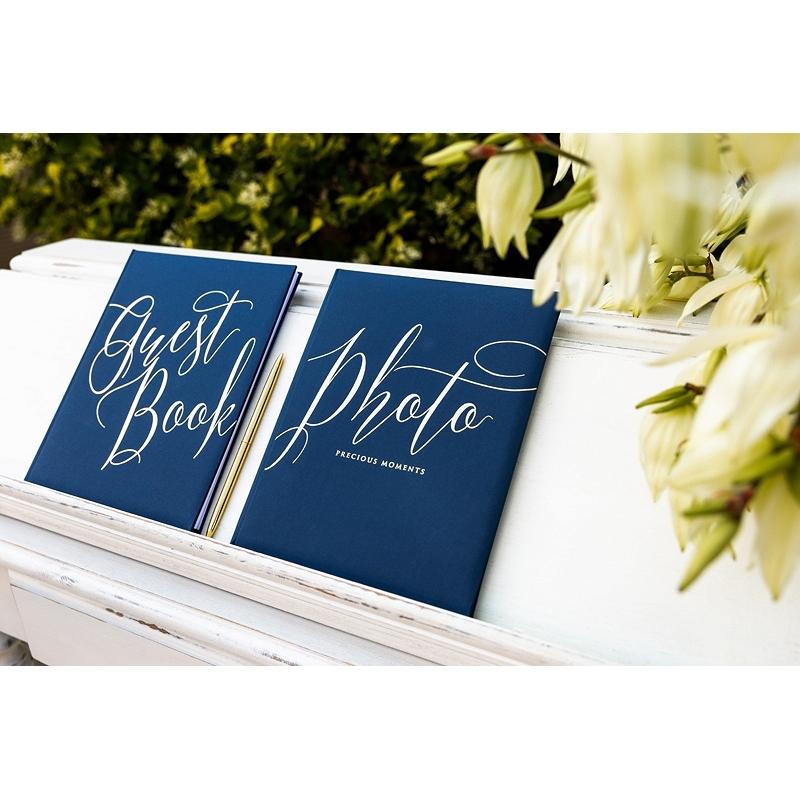 Księga gości Guest book, granatowa
