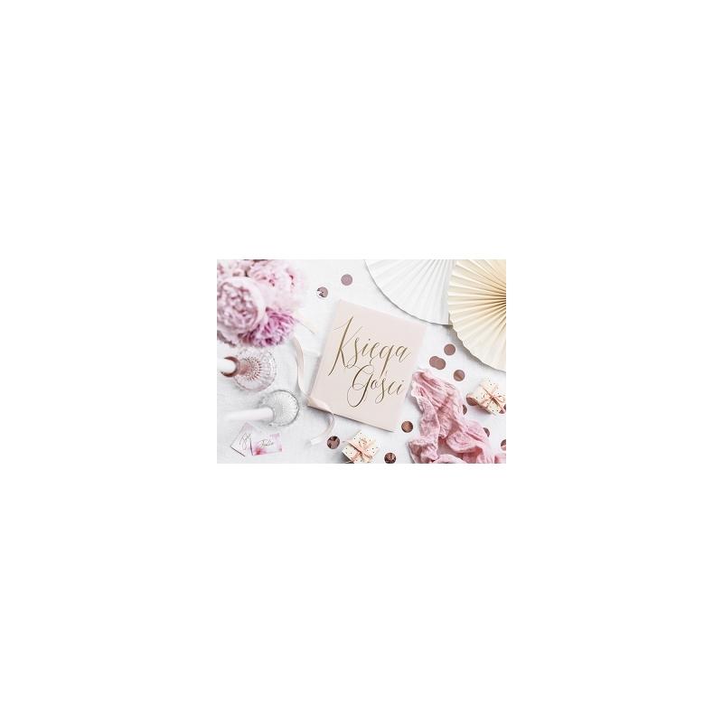Księga gości, pudrowy róż