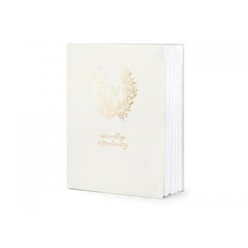 Księga gości, jasnoszara ze złotym wzorem
