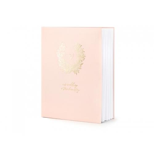 Księga gości ze złotym wzorem