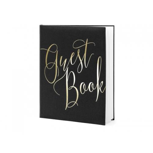 Księga gości Guest book, czarna