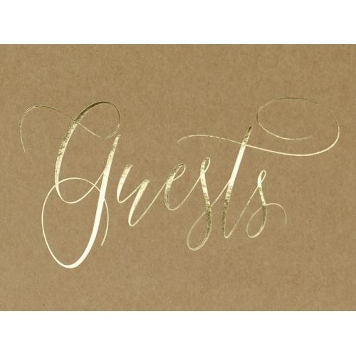 """Księga gości z papieru EKO z napisem """"Guests"""""""