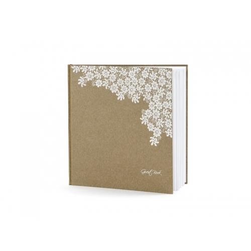 Rustykalna księga gości z kwiatuszkami