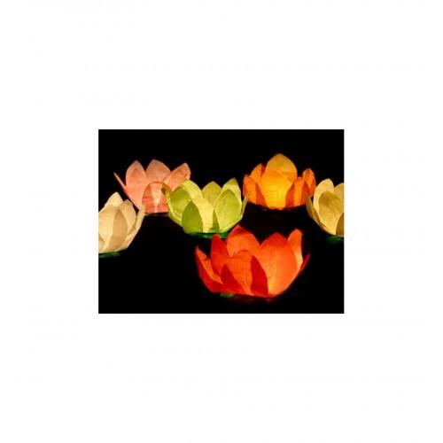 Lampiony pływające - kwiaty (6 sztuk)