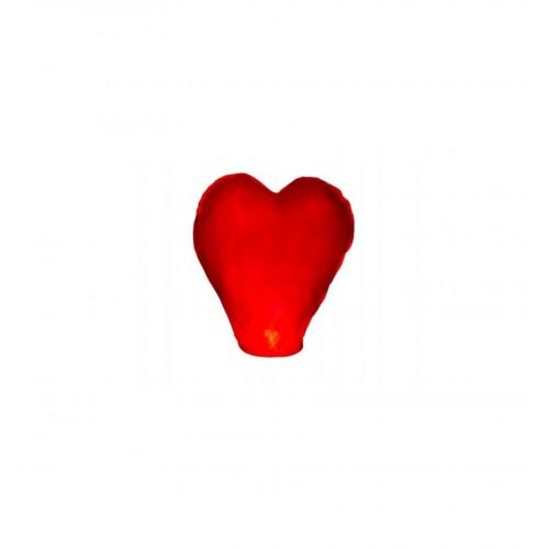 Lampion latający - czerwone serce