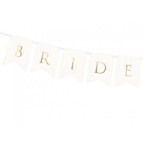 "Baner ""Bride Groom"" - biały"