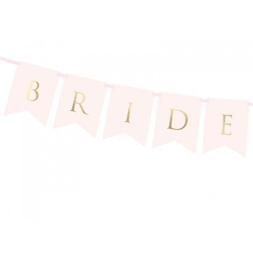 """Baner """"Bride Groom"""" - różowy"""