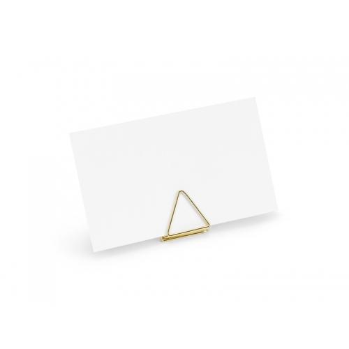 Stojak na winietki trójkątny, złoty