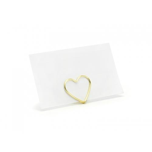 Stojak na winietki Serce, złoty ( 10 sztuk )