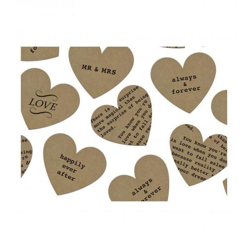Rustykalne konfetti - serca