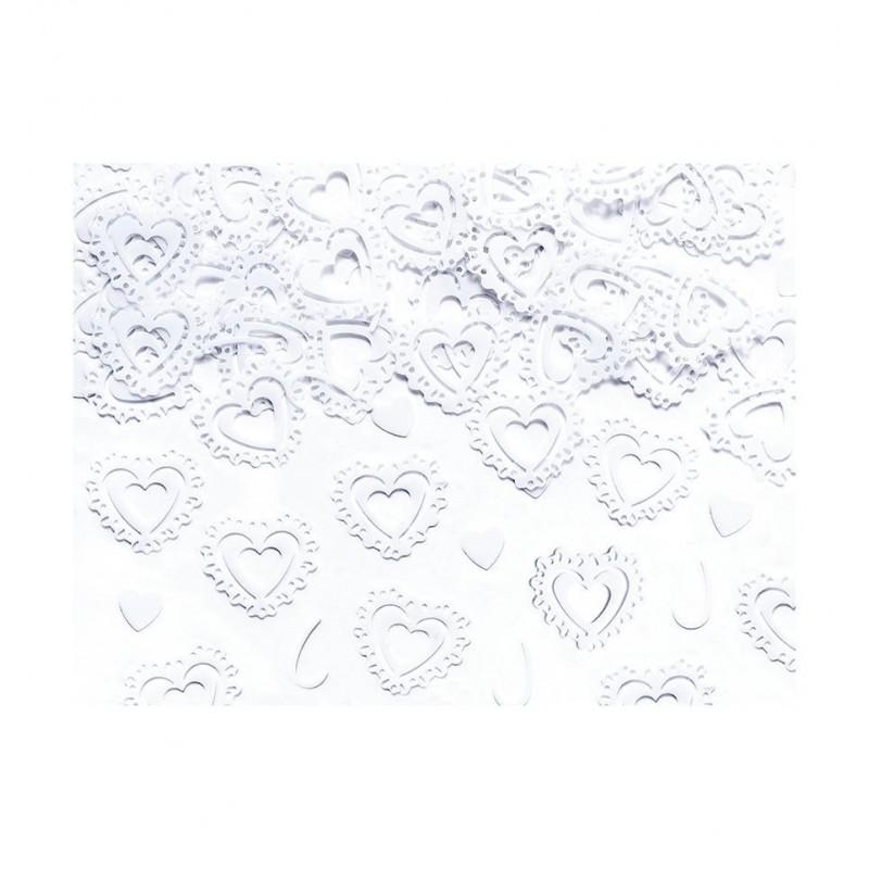 Konfetti białe serca