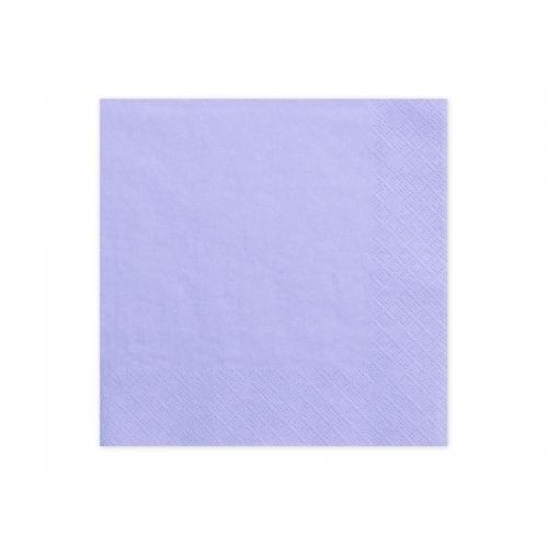 Serwetki papierowe - liliowe (20 sztuk)