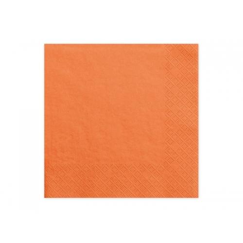Serwetki papierowe - pomarańczowe (20 sztuk)