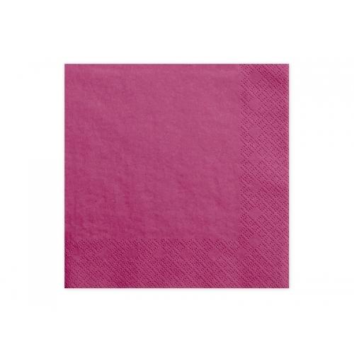 Serwetki papierowe - ciemno różowe (20 sztuk)