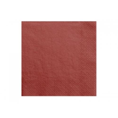 Serwetki papierowe - czerwone (20 sztuk)