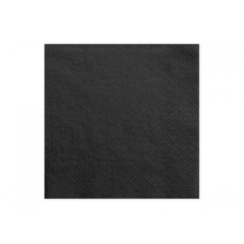Serwetki papierowe - czarne (20 sztuk)