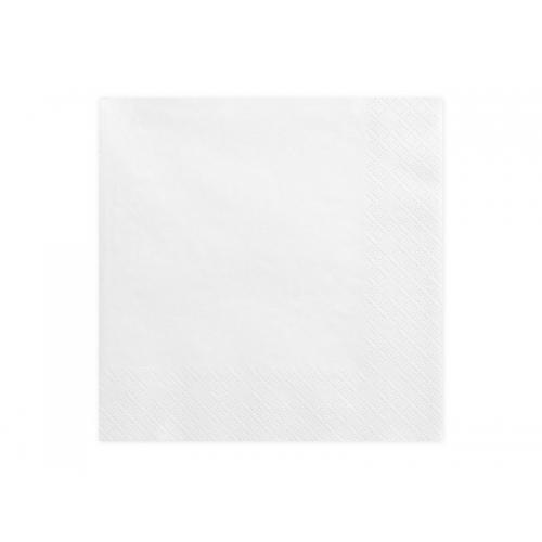 Serwetki papierowe - białe (20 sztuk)