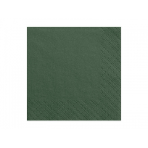 Serwetki papierowe - butelkowa zieleń (20 sztuk)