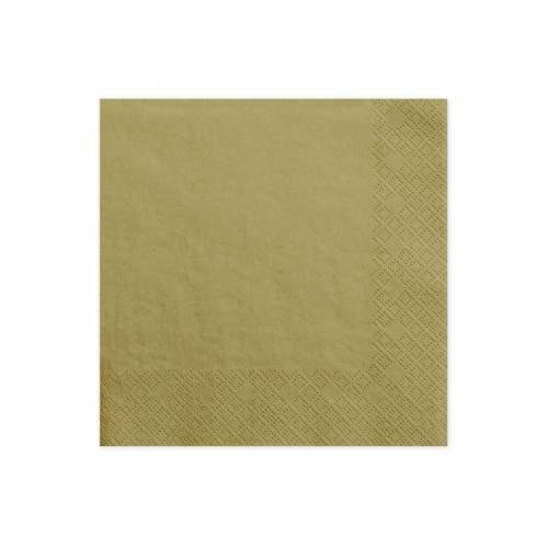 Serwetki papierowe - złote (20 sztuk)