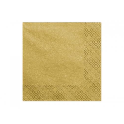 Serwetki papierowe - złote metalizowane (20 sztuk)